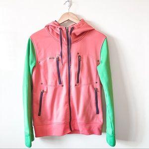 Cross My Heart Pink/Green Zip Up Hoody